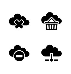 computing cloud simple related icons vector image