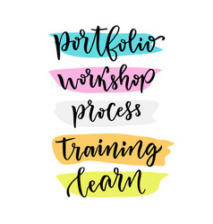 Learning lettering for blog icons hand lettering vector