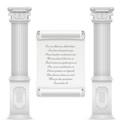 Antique roman architecture design with marble vector