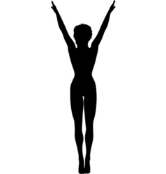 Gymnast silhouette vector