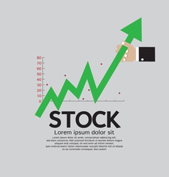 Stock shares raise up vector