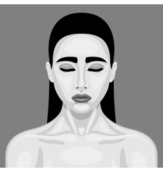 Retro sleeping vampire woman vector