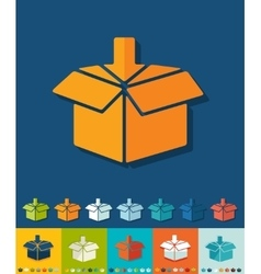 Flat design box vector image