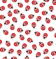 seamless ladybug pattern vector image