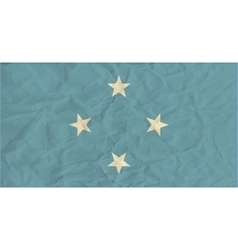 Micronesia paper flag vector