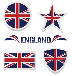 set of british icons vector image