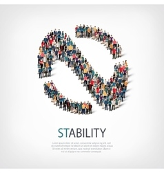 Stability people sign 3d vector