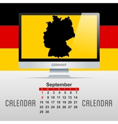 Calendar With map of countries vector image