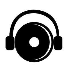 Black dj disco and headphones graphic vector