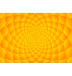 Abstract bright orange fibonacci background vector image