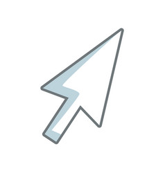 Arrow direction cursor selection technology icon vector