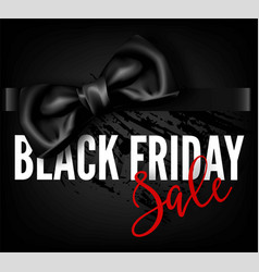 Black friday sale discount fashion promo red bow vector