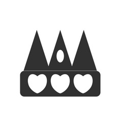 Black icon on white background crown silhouette vector