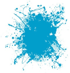 blue blob vector image vector image