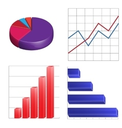 business charts infographics linear circular and vector image vector image