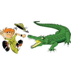 Cartoon crocodile vector image