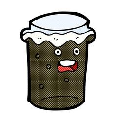 Comic cartoon glass of stout beer vector