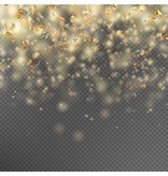 Falling gold glitter particles EPS 10 vector image vector image