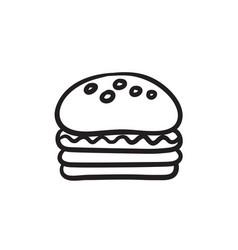 Hamburger sketch icon vector