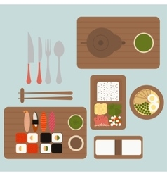 Japanese restaurant vector image