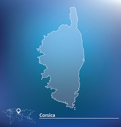 Map of corsica vector