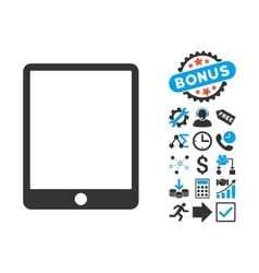 Mobile Tablet Flat Icon with Bonus vector image vector image