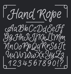 Nautical letters from hand rope thread vector
