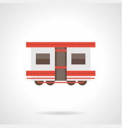 Passenger rail transportation flat icon vector