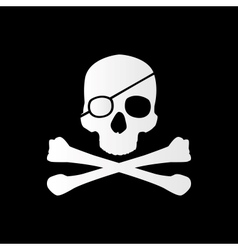 Pirate sign Skull and bones Jolly roger vector image vector image