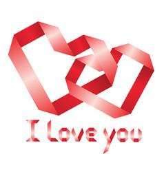 ribbon i love you vector image