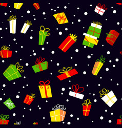 seamless pattern with gift boxes background with vector image vector image