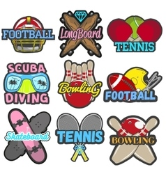 Set of sports emblems badges logos vector