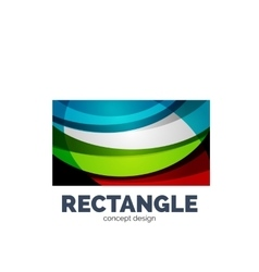 Rectangle logo vector