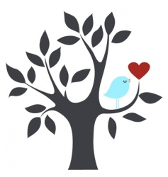 bird and tree vector image