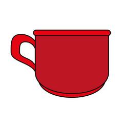red cup cartoon vector image