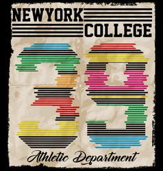 new york sport wear typography emblem american vector image