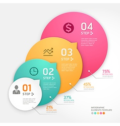 Infographics business steb vector