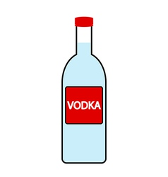 Vodka bottle icon vector