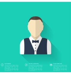 Flat avatar icons business concept global vector