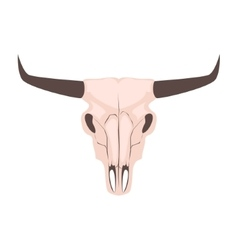 Longhorn cow skull head vector