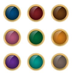 Award badge set vector