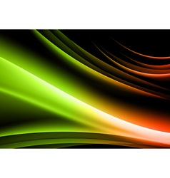 abstract shape black green vector image vector image