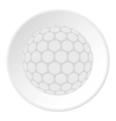 Ball for playing golf icon circle vector