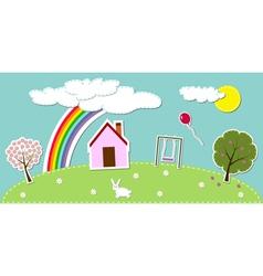 Bright landscape vector image