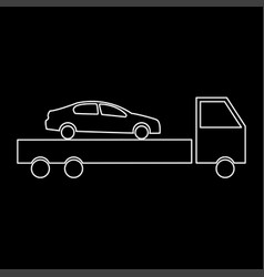 Car service the white path icon vector