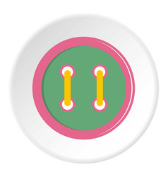 Colorful clothing button icon circle vector