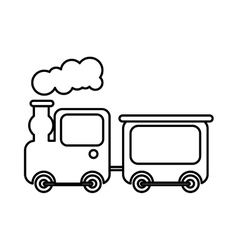 cute train toy icon vector image