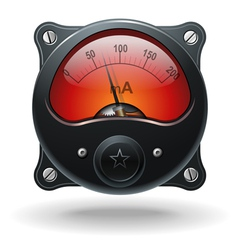 Electronic analog VU signal meter vector image