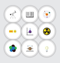 flat icon knowledge set of scope electrical vector image