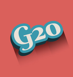 G and 20 letter and number vector